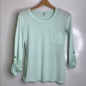 SPLENDID • Mint Lightweight Pocket Tee